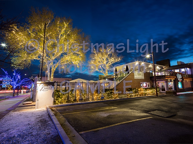 Christmas Lights at Gracie's - Vance Brand Photography