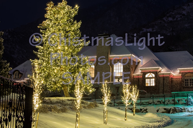 Large home with Christmas Lights - Vance Brand Photography
