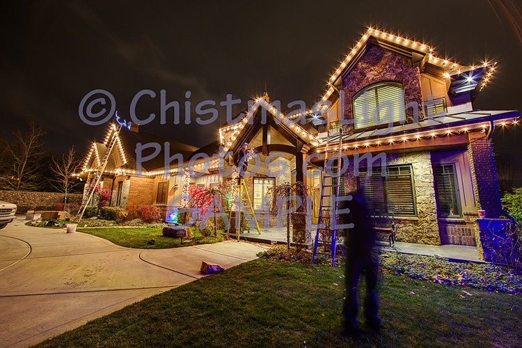 Working the night away with Christmas Lights - Vance Brand Photography