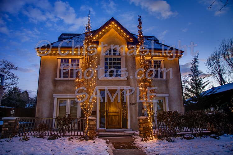 Simple and Classic Christmas lights - Vance Brand Photography