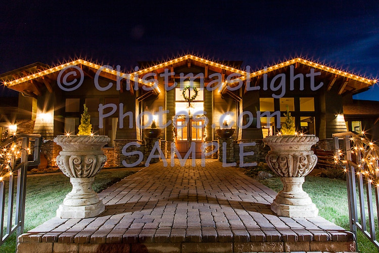 Golf house with Christmas lights - Vance Brand Photography