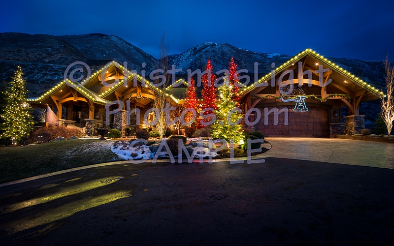 Christmas Lights on Classic house - Vance Brand Photography