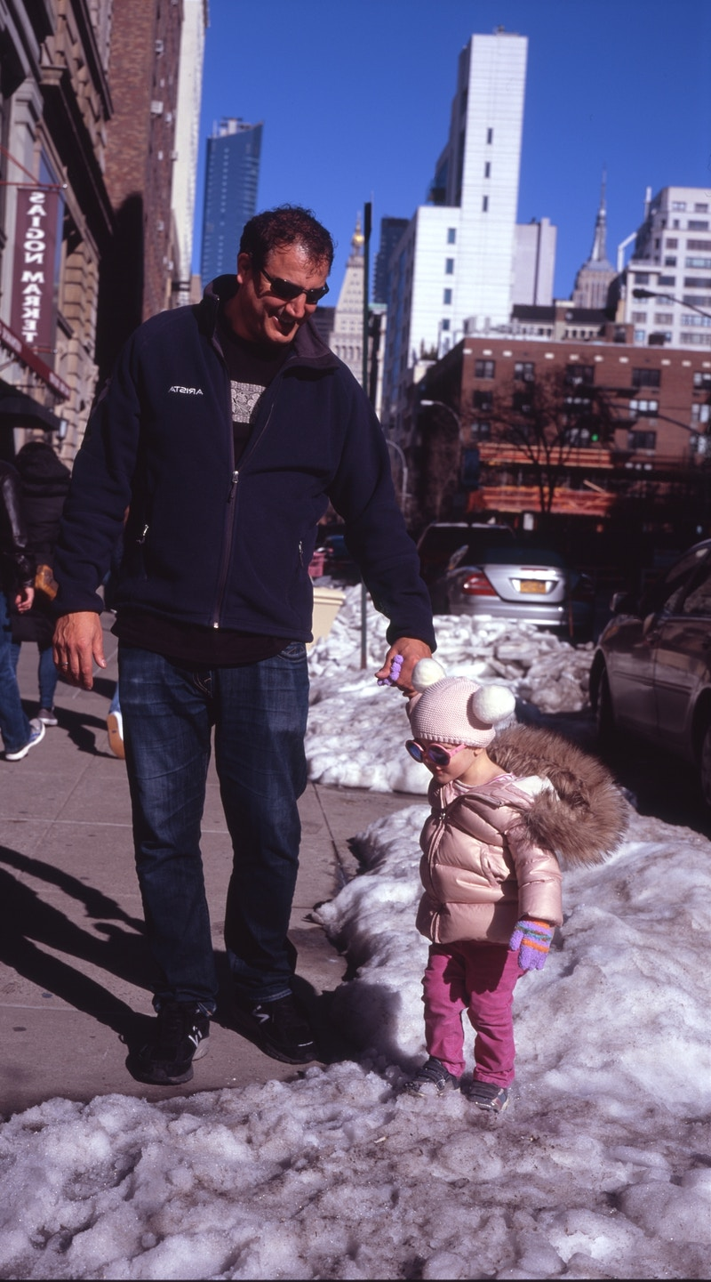 first snowmelt - the daughter in pink - Victor Cohen
