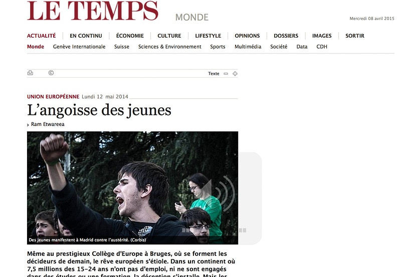 Print · Breaking news from Le Temps (FR) - VictoriaHerranz