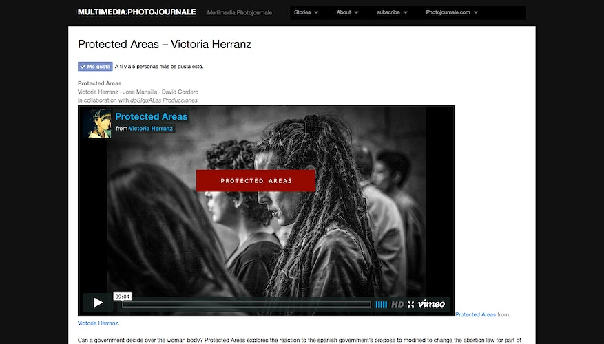 Online · Protected Areas featured on MULTIMEDIA.PHOTOJOURNALE (AU) - VictoriaHerranz