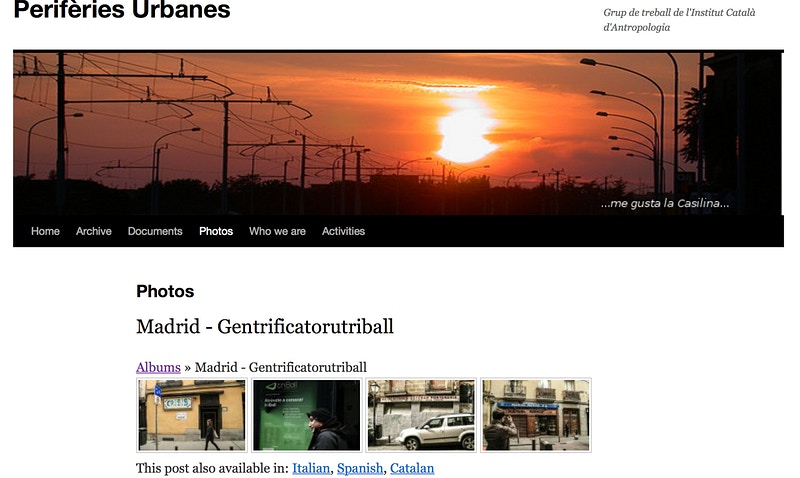 Online · Slide of Gentrification in Madrid on Periferies Urbanes (ES) - VictoriaHerranz