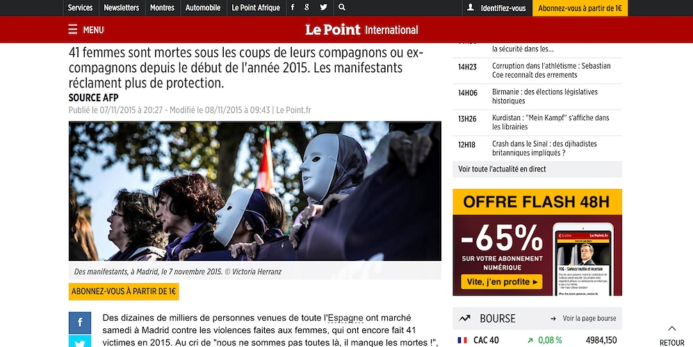 Breaking news from Le Point (FR) - VictoriaHerranz
