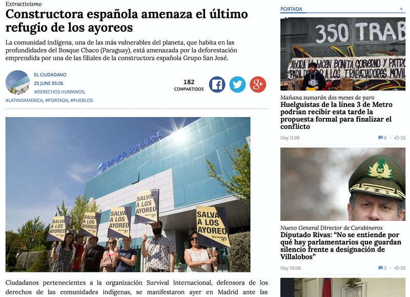 Featured on El Ciudadano (CL) - VictoriaHerranz
