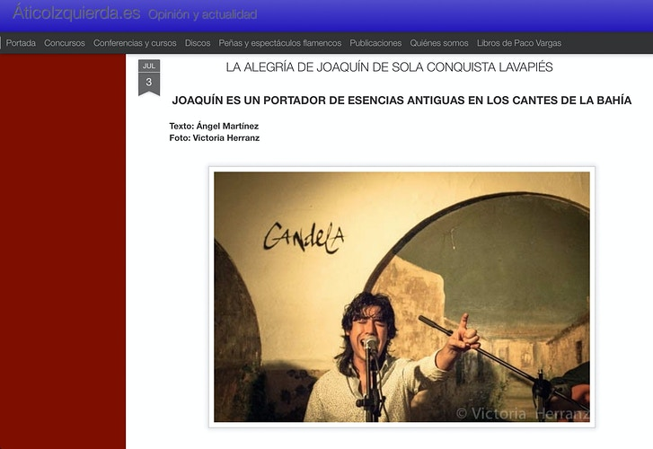 Featured on Ático Izquierda, Flamenco web (ES) - VictoriaHerranz