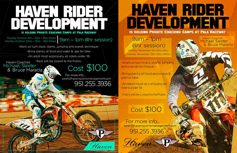 Haven Rider Development flyers - Will Topete Photography & Design