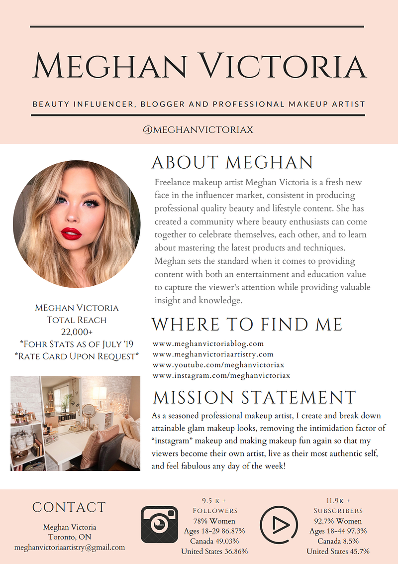 Meghan Victoria Media Kit -